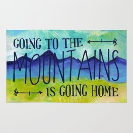 Going to the Mountains, Tetons Landscape Rug