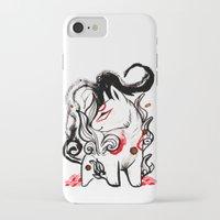 okami iPhone & iPod Cases featuring Chibi Amaterasu Okami I by Rubis Firenos