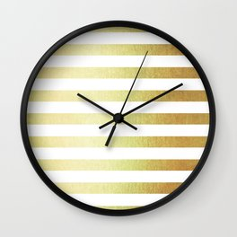 Simply Striped 24K Gold Wall Clock