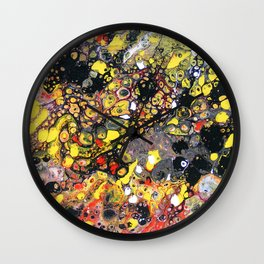 Flowering Tube Abstract Wall Clock