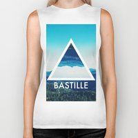 bastille Biker Tanks featuring BASTILLE by Hands in the Sky