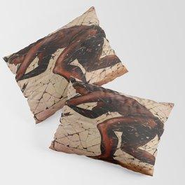 Kokopelli, The Flute Player Fresco Wall Art Pillow Sham