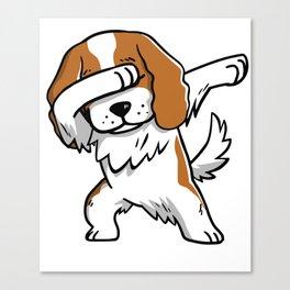 Funny Dabbing Cavalier King Charles Spaniel Dog Dab Dance Canvas Print
