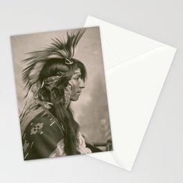 Portrait of Cree Indian by George E. Fleming, 1903 Stationery Cards