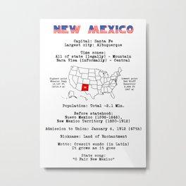 New Mexico Metal Print