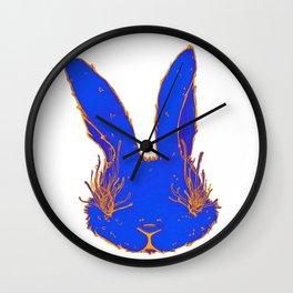 Blue Plague Bunny Wall Clock