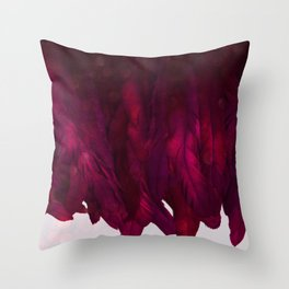 Cranberry Feathers Throw Pillow