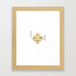 Fish Scrabble Framed Art Print