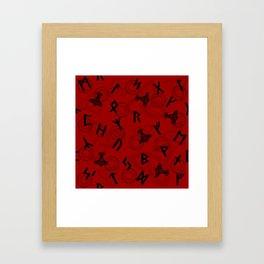 Runes paper Framed Art Print