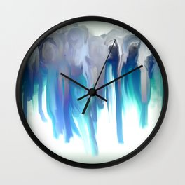 Maidens in Blue Wall Clock