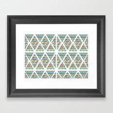 Aztec shapes Framed Art Print