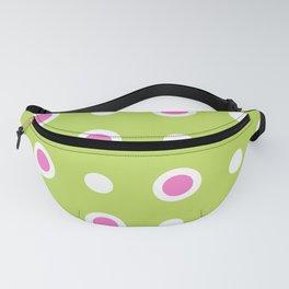 Polka Dot Pattern 242 Chartreuse Pink Fanny Pack