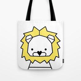 Lion, geometric lion, Animal, Minimal, kids, modern art,Trendy decor, Nursery, Interior, Wall art, Tote Bag