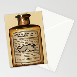 Magical Mustache Rejuvinator Stationery Cards