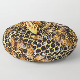 Sweet Honey Harvest Floor Pillow