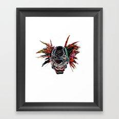 Psychedelic Clown Framed Art Print