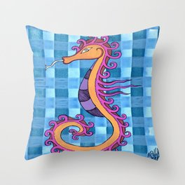 hippocampe 2x Throw Pillow