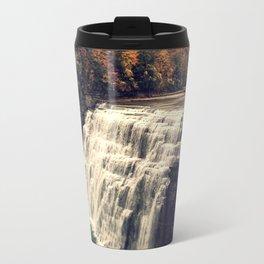 Waterfall in autumn Travel Mug