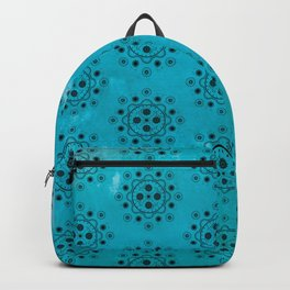 Turquoise Mechanical Flowers Backpack