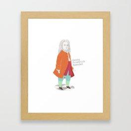 Georg Friedrich Haendel Framed Art Print