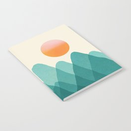 Abstraction_Mountains_SUNSET_Landscape_Minimalism_003 Notebook