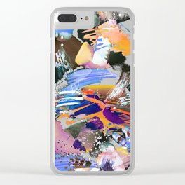 Colorful watercolor sketch Clear iPhone Case
