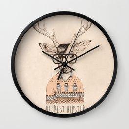 Deerest hipster Wall Clock