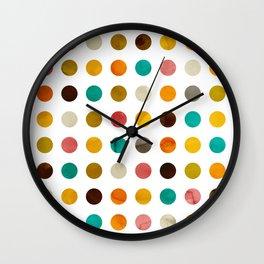 Autumnal polka dot Wall Clock