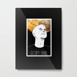 occupy mars. Metal Print