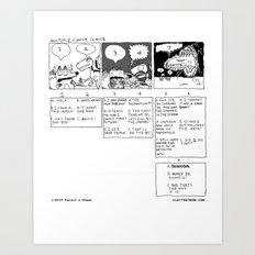 Multiple Choice Comics Art Print