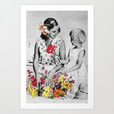 Plantae Wash Out Art Print