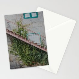 Stone House with Ivy Wall Stationery Cards