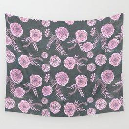 Peony Pattern Grey Wall Tapestry