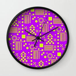 Wonderland Magenta Wall Clock
