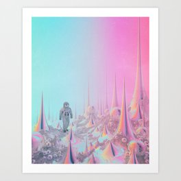 BRIGHT SIDE OF THE MOON (everyday 08.20.18) Art Print