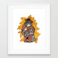wasted rita Framed Art Prints featuring Rita by Freja Friborg