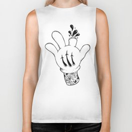 Careful who you point your finger at. Biker Tank