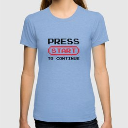 Press Start to continue T-shirt