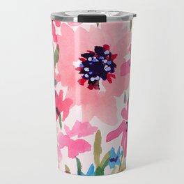 Peachy Wildflowers Travel Mug