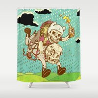 anarchy Shower Curtains featuring Anarchy Time by Beery Method