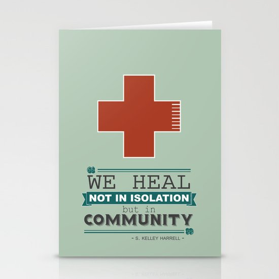 Healing in Community Stationery Cards