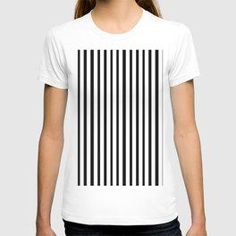 Vertical White Black Stripe T-shirt