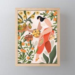 At the fruit market Framed Mini Art Print