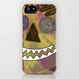 Skull in a Tubular Landscape iPhone Case