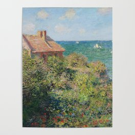 Fisherman's Cottage at Varengeville by Claude Monet Poster