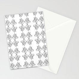 Geometric Shiba Inu Stationery Cards