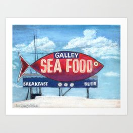 The Galley Art Print