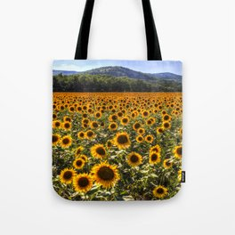 Sunflower Fields Of Dreams Tote Bag