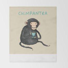 Chimpantea Throw Blanket