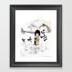 Cat and me Framed Art Print